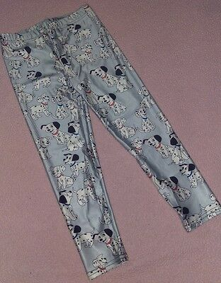 Girl's Small (approx 4/5) leggings 101 Dalmatians Disney dogs Spots light blue