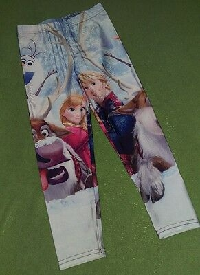 Girl's Small (approx 4/5) leggings Disney Frozen Anna Olaf Sven Kristoff Winter