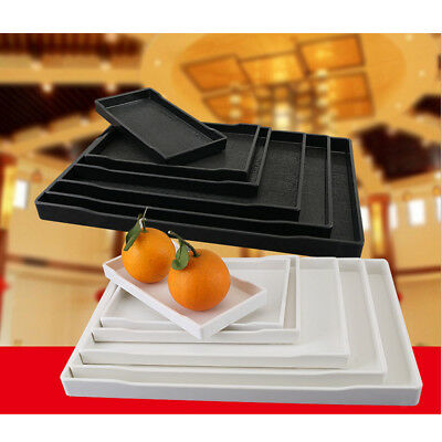 Large Rectangle Plastic Non Slip Dinner Serving Lap Tray Restaurant Tray 10 Size