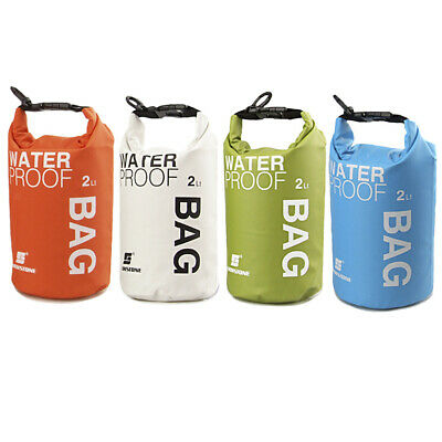 Waterproof 2L SMALL Dry Bag Sack for Kayaking Canoeing Boating Floating Camping