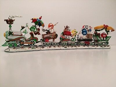 "Danbury Mint M&M's ""Holiday Express"" Christmas Train Collectible"