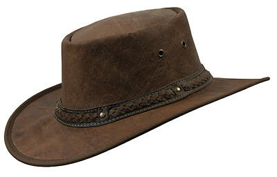 Barmah Squashy ROO HICKORY Coloured CRACKLE Kangaroo Leather Hat + FREE POSTAGE