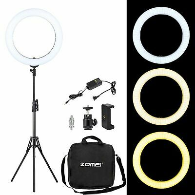 LED Ring Light Lamp dimmable Lighting with stand for Camera/Makeup 5500K 18''