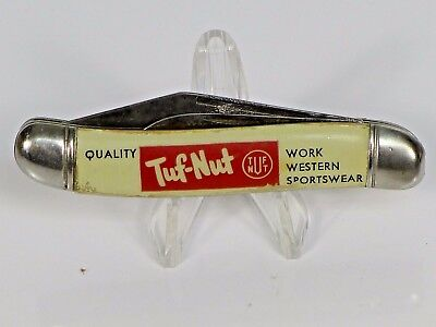 Vintage IMPERIAL Pocket Knife Tuf-Nut 2 blade advertising folding knife