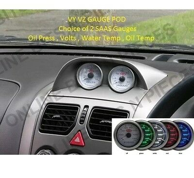 VY VZ Holden Commodore SAAS Gauge Pod Supplied With 2 SAAS Gauges SS HSV