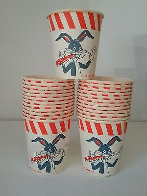 Vintage BUGS BUNNY Paper Cups 1965 Warner Bros Party Cups 25 Cups