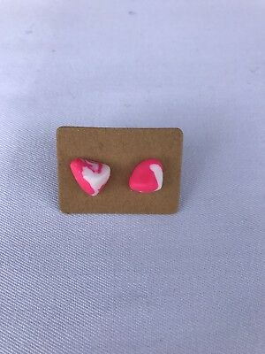 Earring Surgical Steel Polymer Clay Hand Made With Love