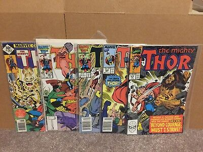 The Mighty Thor 263 367 374 384 414 VF NM Avengers Comics Lot