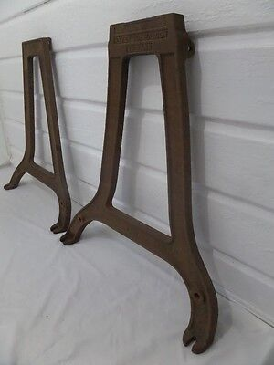 Vintage Rustic Cast Iron Table Legs Industrial Machinery Legs Furniture