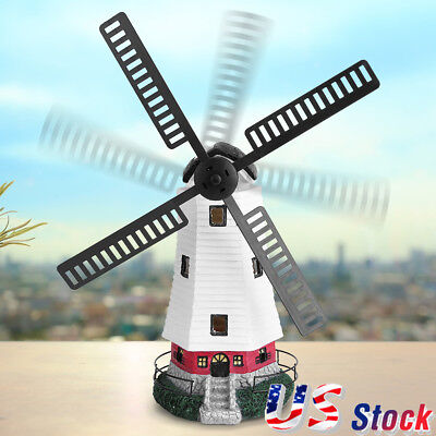 Cute LED Windmill Light Lamp Solar Powered Garden Decor Ornament Christmas Gift