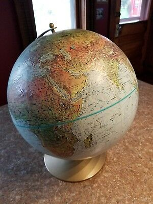 Vintage Replogle Land and Sea topographic 12 inch Globe