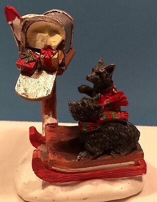 "Christmas ""special Delivery"" Scottish Terriers On A Sled@mailbox~New This Season"