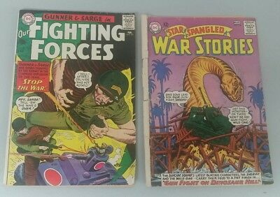 LOT OF (2) DC War Comics STAR SPANGLED WAR 119 G/VG,  OUR FIGHTING FORCES 90 FN