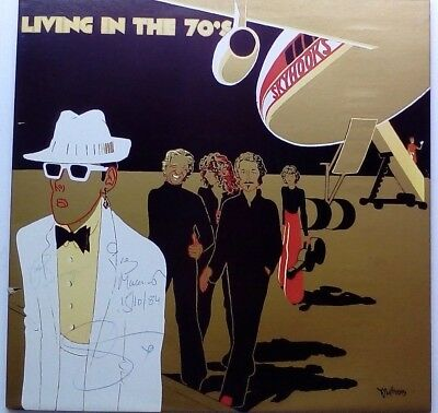 Skyhooks - Living In The 70's, Gold Vinyl LP Record, Autographed / Signed