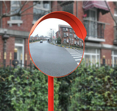 """Outdoor 24"""" Road Traffic Convex PC Mirror Wide Angle Driveway Safety & Security"""