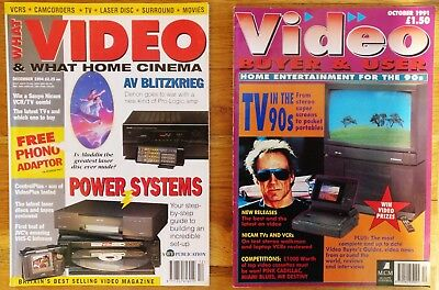 WHAT VIDEO (Dec 1994) and VIDEO BUYER & USER (Oct 1991) TWO magazines