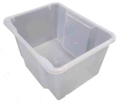 5 X 35L Plastic Storage Tubs Containers Strong Crate Bin Crates Box Boxes 35LT