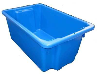 3 X 68L Plastic Storage Tubs Containers Strong Crate Bin Crates Box Boxes 68LT