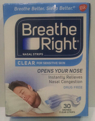 Breatheright Breathe Right Sleeping Strips Clear For Sensitive Skin