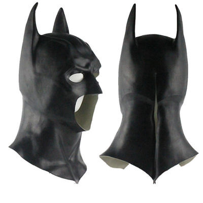 Batman Full Mask With Cowl Adult The Dark Knight Rises Halloween Cosplay Prop UK