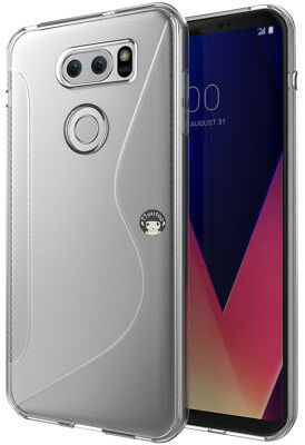 Clear S Line Soft Gel TPU Silicone Cover Skin Shell For LG V30 / V30 Plus