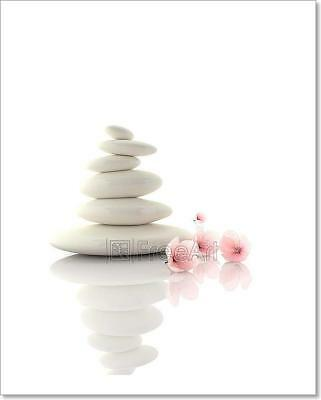 Spa Concept Zen Basalt Stones With Art Print Home Decor Wall Art Poster - C