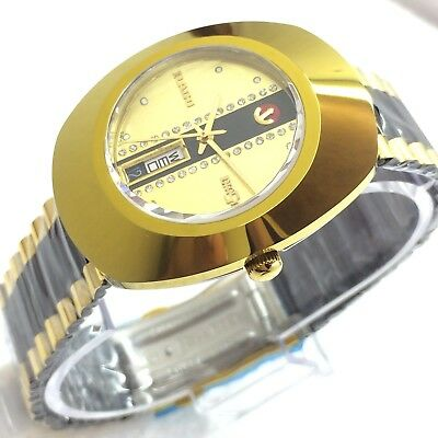 Vintage Men's Rado Diastar 35Mm Automatic Day Date Swiss Made Wrist Watch L7877