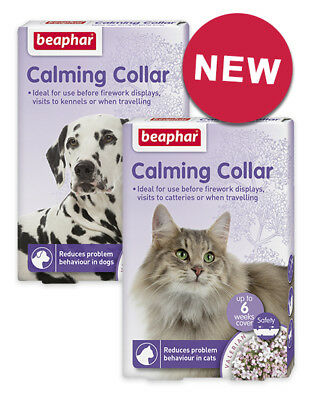 Beaphar Calming Collar Dogs Cats Reduces Stress Problem Behaviour Relax Settle