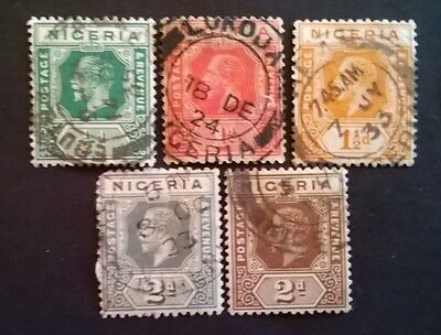 Nigeria Stamps - 1914 - Kgv - Set Of 5 - Used