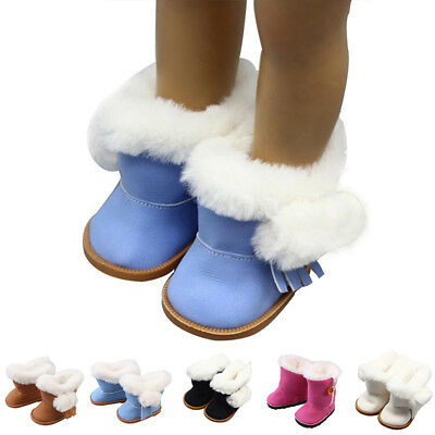 Lots Handmade fashion Plush winter Boots Soft shoes for 18inch Girl Doll shoes