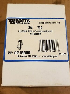 "Watts 3/4"" Swt Tempering Valve 120-160F Part# 0215500"