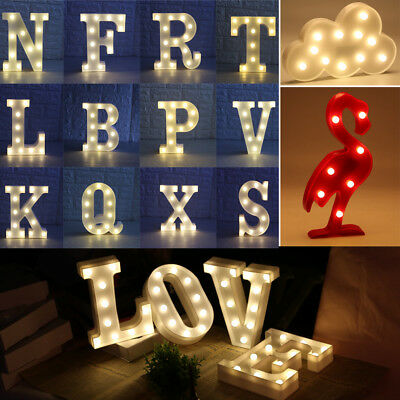 Vintage Light Up Alphabet LED Letters Light Standing Hanging A-Z Warmwhite Xmas