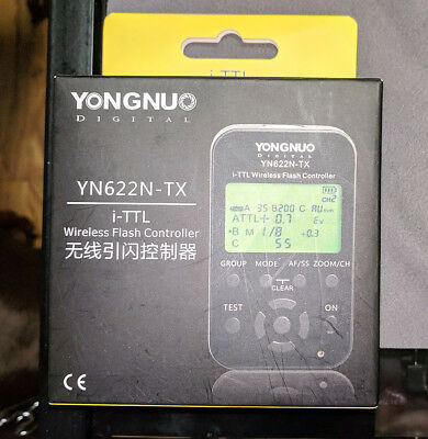Yongnuo YN-622N-TX Wireless Flash Transmitter for Nikon US with Box