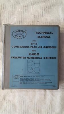 Moore Tool Technical Manual for G-18 with 8400 cnc