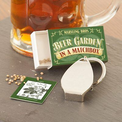 """GROW YOUR OWN """"BEER GARDEN IN A MATCHBOX"""" by MARVLING BROS. Hand made in UK."""