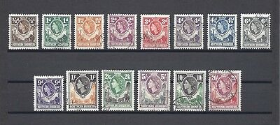 NORTHERN RHODESIA 1953 SG 61/74 USED Cat £100