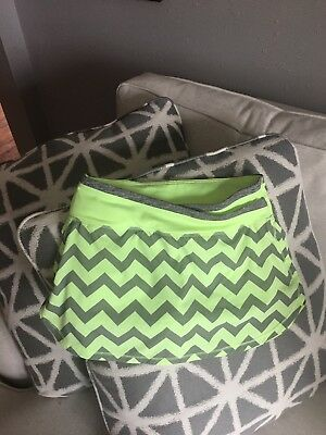 Ivivva 12 Fitness Skirt Neon yellow/green Girls By Lululemon Attached Shorts