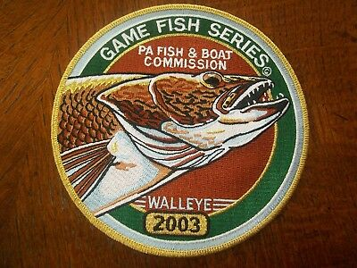 """Pa Pennsylvania Fish Game Commission  Patch 3"""" 2003 Walleye  Game Fish Series"""