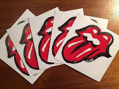 The Rolling Stones No Filter Tongue 5× Aufkleber / Sticker