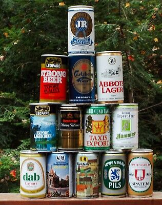 Pull Tab Beer Can Lot 1. Opened from bottom. Germany and More Free Shipping