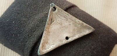 Beautiful early Post Medieval Silver applique some nice detail 3.97g L60w