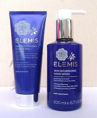 Elemis Skin Nourising Set - Hand & Nail Lotion 100ml ( Sealed)& Hand Wash 200ml