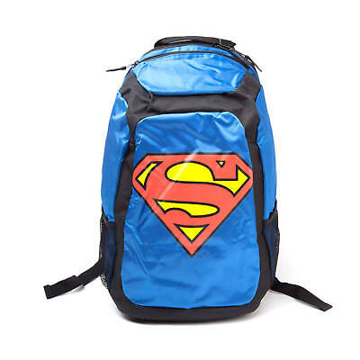 DC Comics Superman Justice League Rucksack with Novelty Red Cape Blue/Black