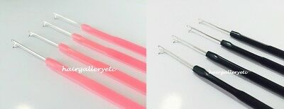 4 Hook Pulling Needle for i tip hair extension latch hook crochet micro needle