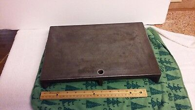 """Machinist Cast Iron Steel Surface Plate  10"""" x 14"""" stamped T21"""