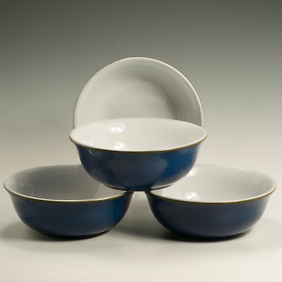 Denby Imperial Blue 4 Four Cereal / Soup Bowls 6 2/5""