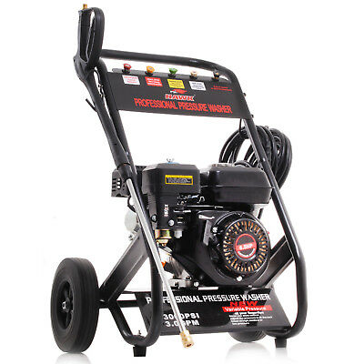 HAWK TOOLS 196cc JET PRESSURE WASHER 200 BAR 3000PSI 6.5HP PETROL CLEANER
