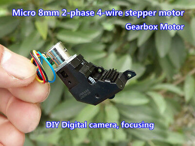 8mm 2-Phase 4-Wire Micro Step Stepping Stepper Motor Gearbox for Digital Camera