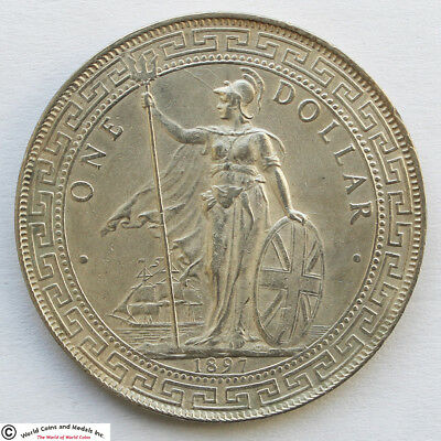 Great Britain 1897 Silver Trade Dollar For Use In China And Orient. Km-T5.