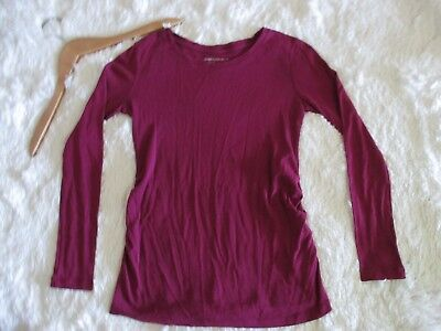 Gap Maternity Supersoft Long Sleeve Deep Pink Top Sweater Boat Neck Size XS A8
